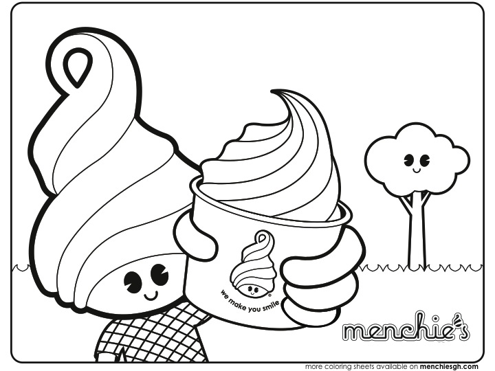 coloring sheets - menchie\'s granada hills